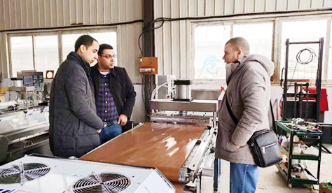 Egypt Customer Visit for Flat bread making machine