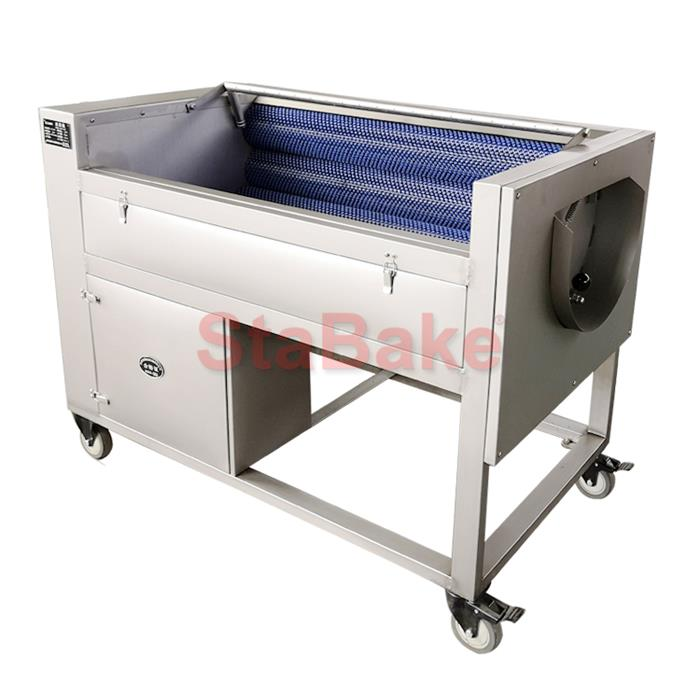 Root Vegetable Brush Washing And Peeling Machine